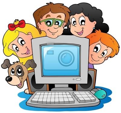 vinilo-ordenador-con-ninos-de-dibujos-animados-y-un-perro-dibujando -  Ayuntamiento de l'Alcora